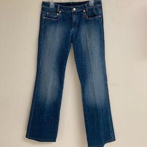 St. John runway heart embellished blue jeans, 6